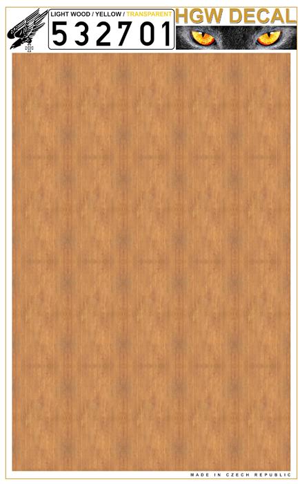 Yellow Light Wood transparent no grid sheet: A4 #HGW532701
