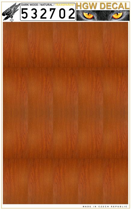 Natural Dark Wood transparent no grid sheet: A4 #HGW532702