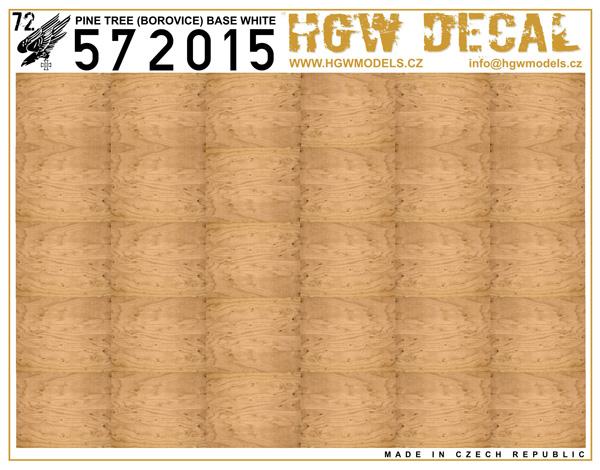 Pine Tree - Natural - base white - sheet: A5 #HGW572015