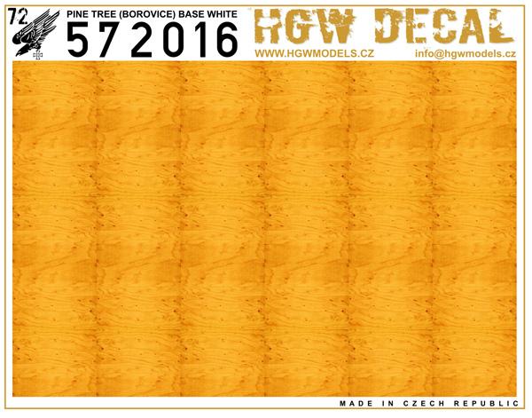 Pine Tree - Yellow - base white - sheet: A5 #HGW572016