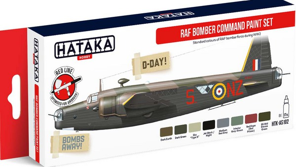 RAF Bomber Command paint set. - Pre-Order Item #HTK-AS102