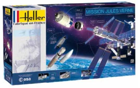 Mission Jules Verne Space Set: ATV, Ariane 5 & Int'l Space Station w/Paint & Glue #HLR52909