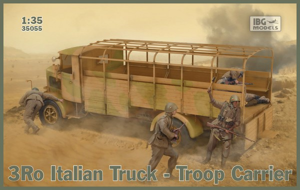 3Ro Italian Truck Troop Carrier (New Tool) #IBG35055