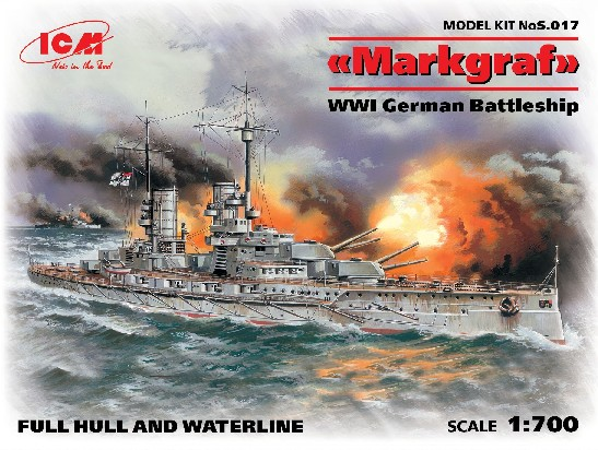 1/700 WWI German Markgraf Battleship #ICM17