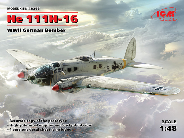 WWII German He.111H-6 Bomber #ICM48263