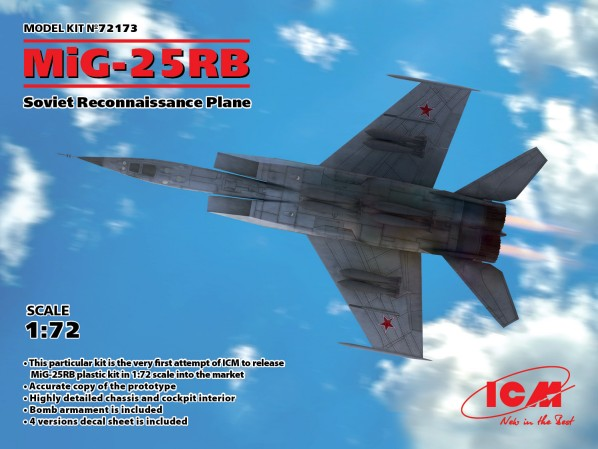 Soviet MiG-25RB Recon Aircraft #ICM72173