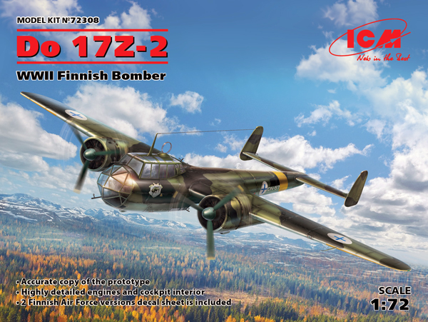Dornier Do-17Z-2 WWII Finnish Bomber #ICM72308