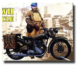 WW II Triumph Motorcycle #ITA7402