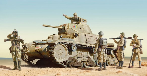 M14/41 Medium Italian Tank w/Infantry #ITA6543