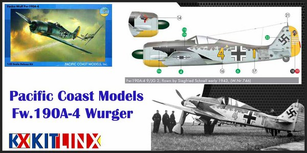 Pacific Coast Models 1/32 Fw.190A-4