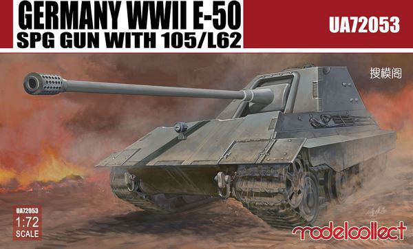 E-50 SPG GUN with 105/L62 Germany WWII #MDO72053