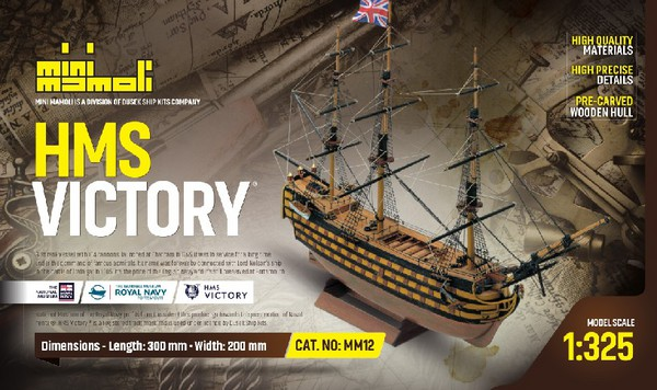 HMS Victory 3-Masted 1765 English Navy Ship (Re-Issue) - Pre-Order Item #MOL12
