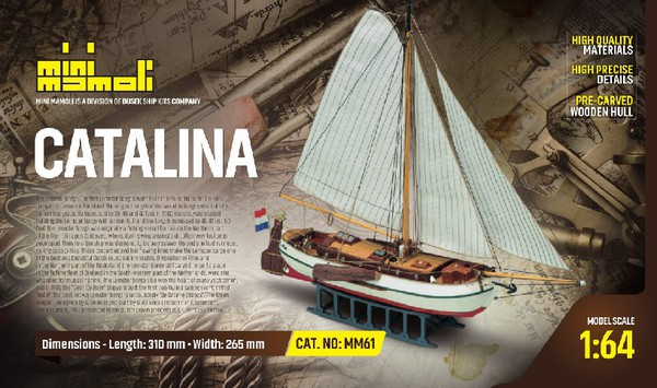 Catalina Single-Masted Dutch Yacht (Re-Issue) - Pre-Order Item #MOL61