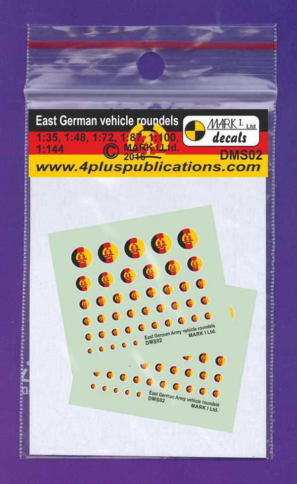 East German Army vehicle roundels, 2 sets #DMS02