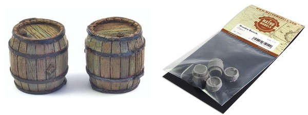 Wooden-Type Barrels, Resin (2) #MAT35012