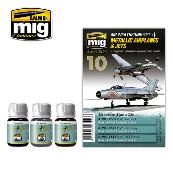 METALLIC AIRPLANES & JETS #MIG7423