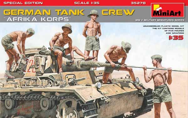 Afrika Korps German tank crew SPECIAL EDITION (WWII) #MNA35278