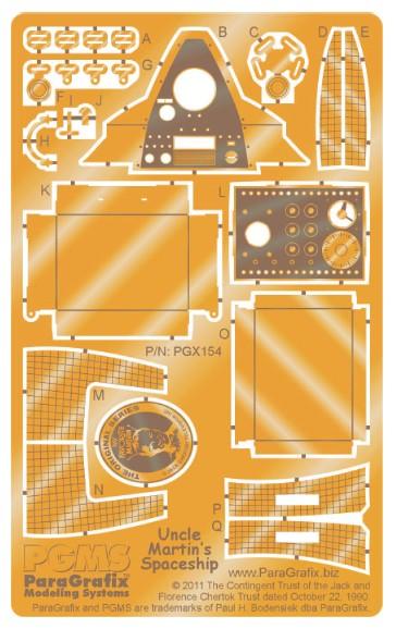My Favorite Martian Spaceship Photo-Etch Set for PGH #PGX154