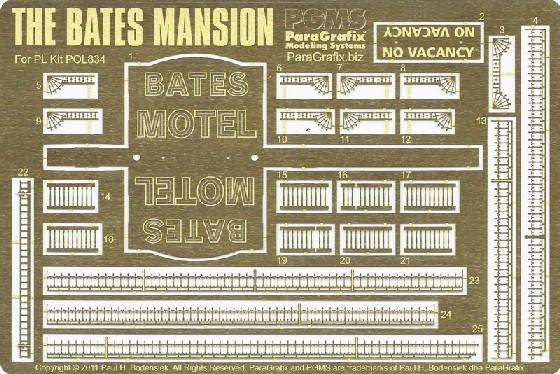 Bates Mansion Photo-Etch Set for PLL #PGX190