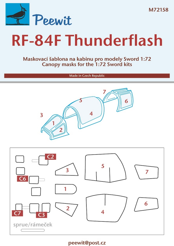 Republic RF-84F Thunderflash (designed to be used with Sword kits) #PEE72158