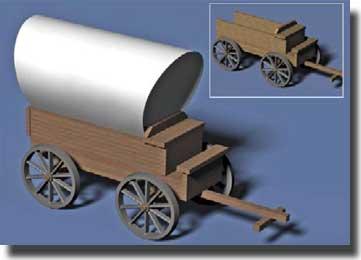 Wooden Wagon Kit (Wood w/Plastic Wheels) #PGH6901