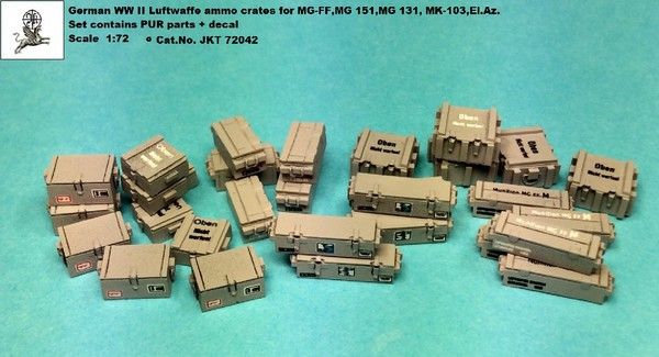Luftwaffe Ammo Boxes for MG-FF, MG 151, MG 131, MK 103. #JKT72042