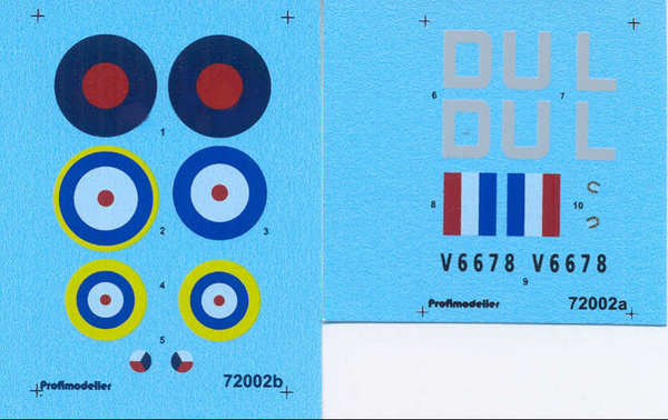 Hawker Hunter 312 Perut' WWII Decal #PF72002P