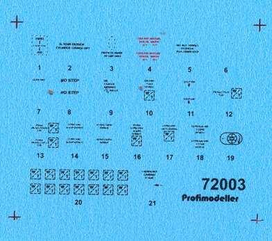 Hawker Hurrican Mk.I Stencils #PF72003P