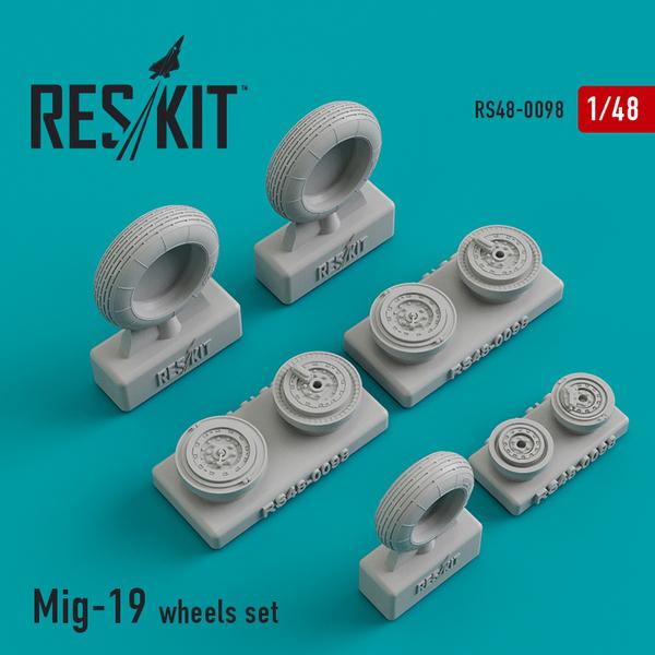 Mikoyan MiG-19 wheels set #RS48-0098