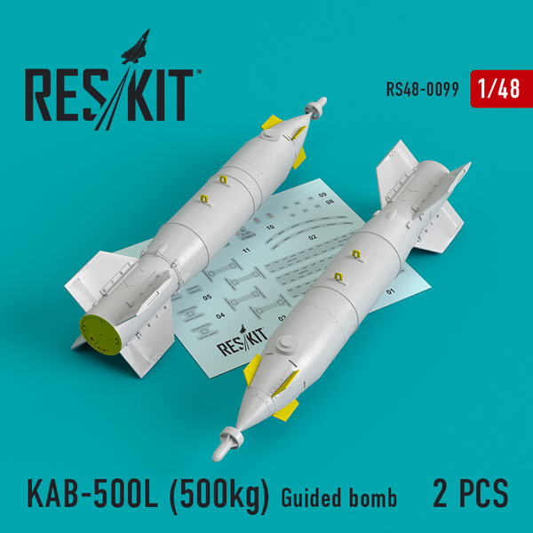 KAB-500L (500kg) Guided bomb (2 pcs) #RS48-0099
