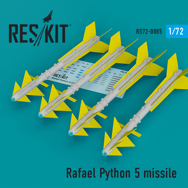 Rafael Python 5 missile (4 pcs) (F-16I, F-16D, F-15I, Mirage F.1) #RS72-0085