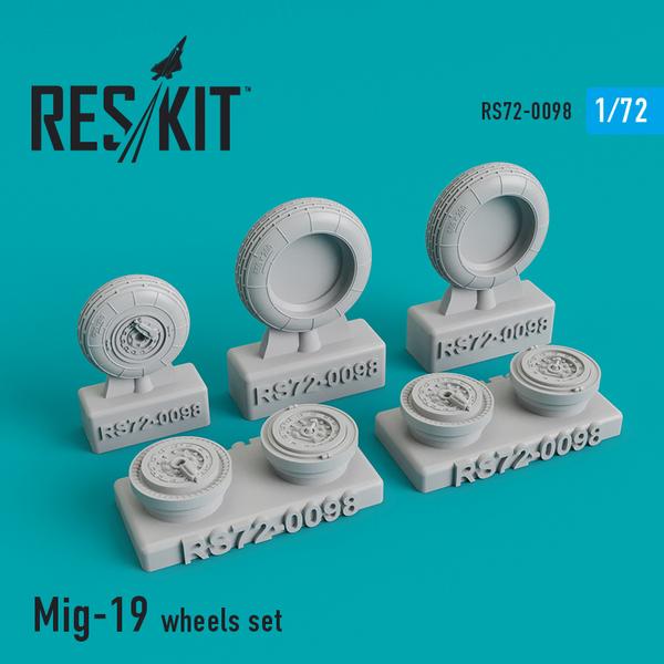 Mikoyan MiG-19 wheels set #RS72-0098