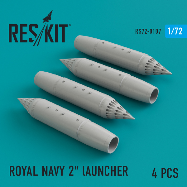 ROYAL NAVY 2' lAUNCHER (4 pcs) #RS72-0107