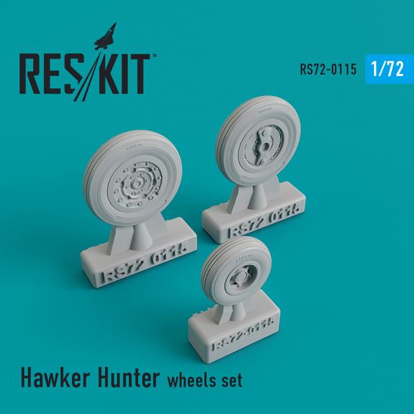 Hawker Hunter F.6 wheels set #RS72-0115