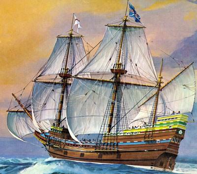 Mayflower Sailing Ship #RVL5486
