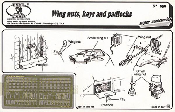 Wing Nuts, Keys, Padlocks (Photo-Etch) #RML38