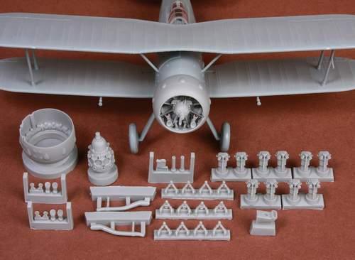 Gloster Gladiator Mk.I/Mk.II engine & cowling set #SBS48057