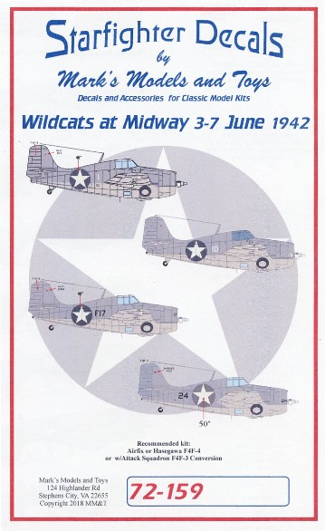 F4F-3/4 Wildcats Battle of Midway for ARX & HSG #SFA72159