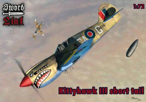 Curtiss Kittyhawk Mk.I / Mk.III. 2 complete kits #SRT72064