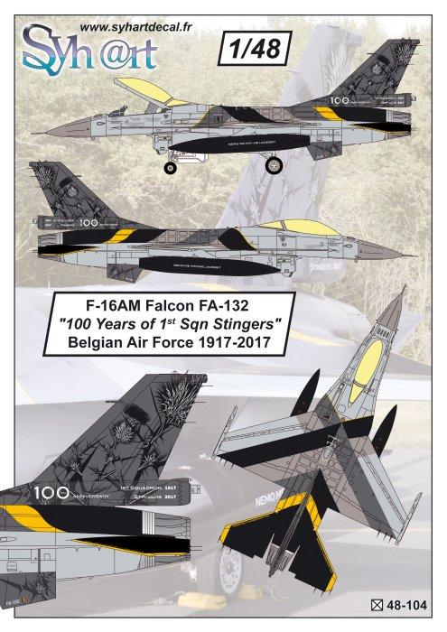 Lockheed-Martin F-16AM Falcon FA-132 '100 Years #SY48104