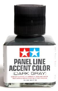 Dark Gray Panel Line Accent Color (40ml Bottle) (6/Bx) - Pre-Order Item #TAM87199