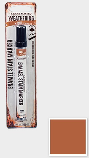 1/3oz. Tube Model Master Weathered Enamel Stain Marker Rust #TES342893