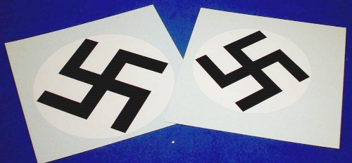 Swastika Decals for Bismarck Battleship (2) #TSM20001