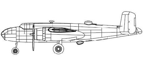 B-25 Mitchell Aircraft #TSM4204