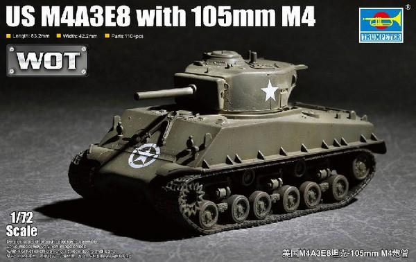 US M4A3E8 105mm M4 Tank (New Variant) (NOV) #TSM7168