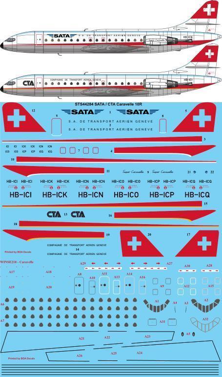SATA / CTA Caravelle 10R (for A Model kit) #STS44284