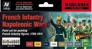 17ml Bottle French Infantry Napoleonic 1789-1815 Wargames Paint Set (8 Colors) #VLJ70164