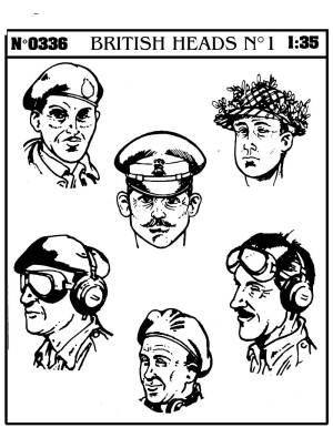 54mm WWII British Heads (D)<!-- _Disc_ --> #VPI336