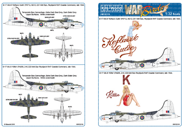 Boeing B-17 Mk.III Designed for the HK Model Kit #WBS132119