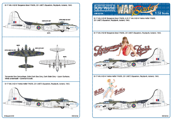 Boeing B-17 Mk.III Designed for the HK Model Kit #WBS132134